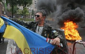 EuroMaidan burns tires again, May 31, 2014