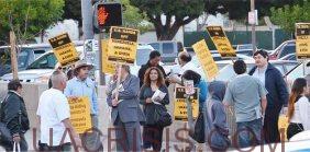 Los Angeles, California against US involvement in Ukraine