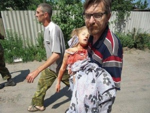 6 year old girl murdered by Ukrainian army during punitive operation against locals in southeastern Ukraine