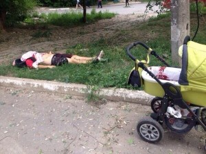 Ukrainian army shells Lugansk, man gives his life for a toddler