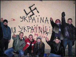 Sign reads: Ukraine for Ukrainians