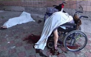 handicap killed by Ukrainian army