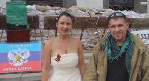 Couple marries in Novorossia despite being shot at by Ukrainian army