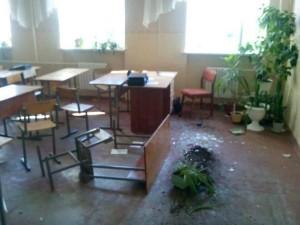 Ukrainian army shells school