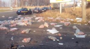 Ukrainian army track accident