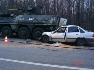 Ukrainian APC kills girl and father