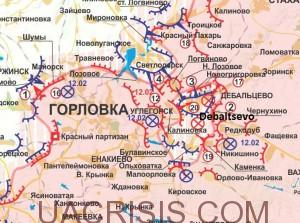 Debaltsevo region Map
