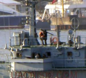 Russian sailor ready for Turkish aggression